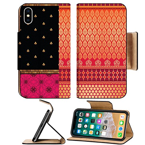 Liili Premium Apple iPhone X Flip Pu Leather Wallet Case Indian Sari Borders detailed and easily editable Photo 16033853 Simple Snap Carrying
