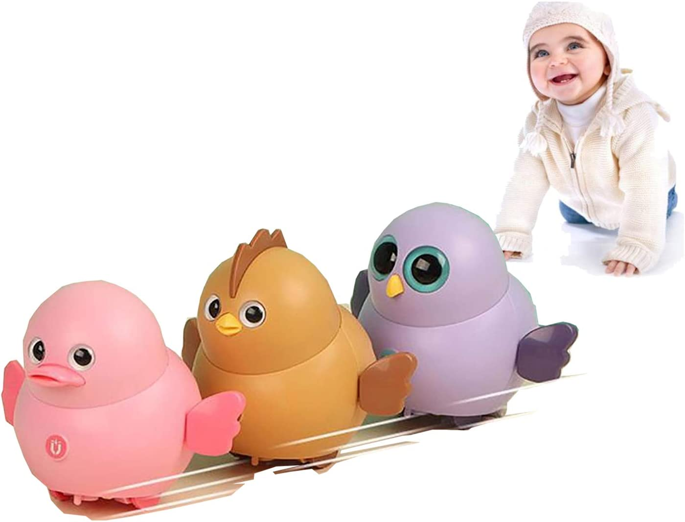 sesil Electric Magnetic Swinging Chicken Toy Animal Squad That Can Walk in Line and Turn in Circles at Fixed Points Eagle1