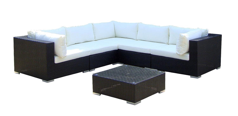 Baidani Rattan Lounge-XXL-Sofa Sunshine, schwarz