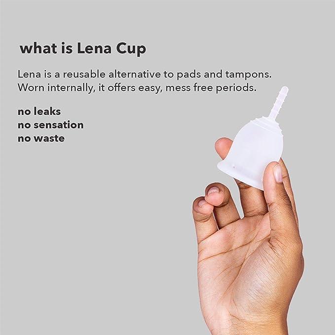 Lena Sensible Cup - Copa Menstrual - Grande - Clara - Flujo Abundante - Diseño Suave Patentado - Hecha en EE.UU - Copa menstrual cómoda - Reutilizable ...