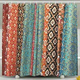 ERSFGHAJK Shower Curtain Decor by Traditional Thai Tandmade Bathroom Shower Curtain Set with Hooks 60 x 72 Inches