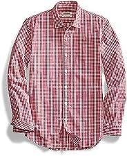 Amazon Brand - Goodthreads Men's Slim-Fit Long-Sleeve Gingham S