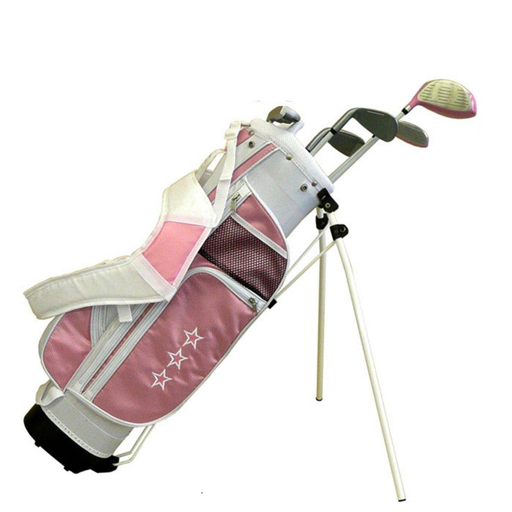 crestgolf Completeジュニアゴルフクラブセットゴルフパッケージ---範囲から年齢3 – 12、Includs 5 Clubs、フリー送信2ゴルフボール、2ヘッドカバー、1ペアの袖 B01N1NJ4NY Age 9-12 ピンク ピンク Age 912