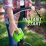 greenworks 40V 21 inch Brushless Dual PH Mower with Two 2.5AH Batteries and Charger, MO40L2512 15 Includes (2) 2.5 AH - 40V Lithium Batteries Durable 21'' Steel Deck lets you Mulch, Bag, or Side Discharge allowing you to maintain your yard the way you want it Our dual battery port design enables one battery to be stored while the other fuels the mower for uninterrupted cutting; saving a you a trip to the garage