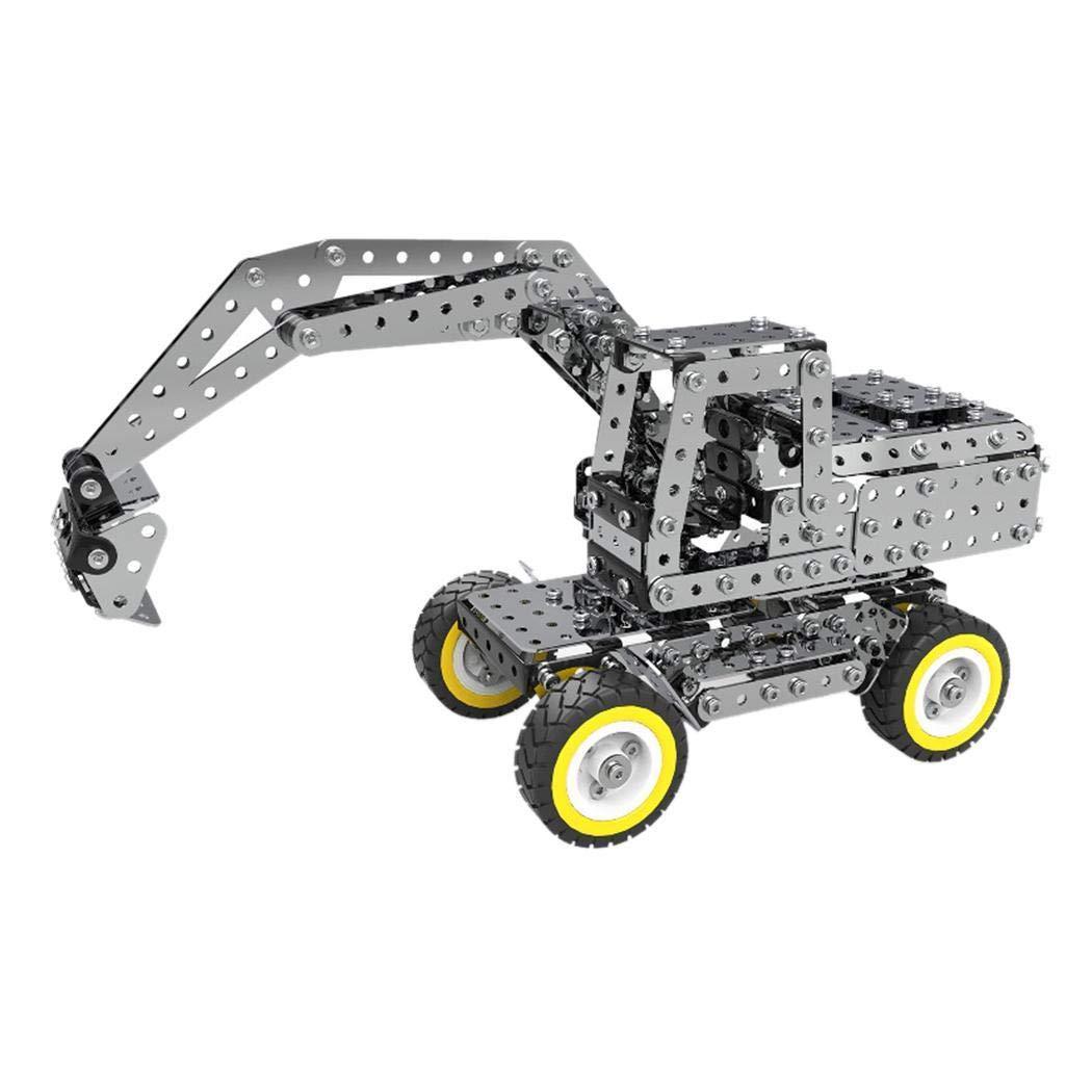 Cehar Ladefahrzeug Baustellenfahrzeug Kinder Karikatur Bagger Form Technik Baustein Ziegelstein Spielwaren,Spielzeug für Kinder