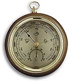 TFA 45.1000.01 - Barómetro de madera para interior, de 121 mm