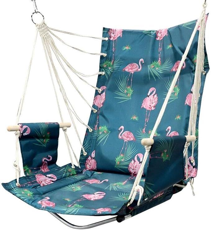 FQCD Silla Colgante Tipo Hamaca Columpio, Interior/Exterior, Lazy Swing Chair Terraza al Aire Libre Cubierta Terraza Jardín Bar: Amazon.es: Deportes y aire libre