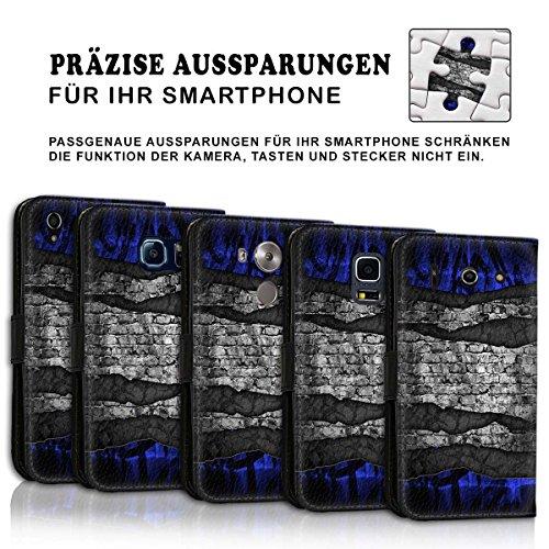 Wallet Book Style Flip Handy Tasche Case Schutz Hülle Schale Motiv Etui für Apple iPhone 6 Plus / 6S Plus - Design Flip MVD69
