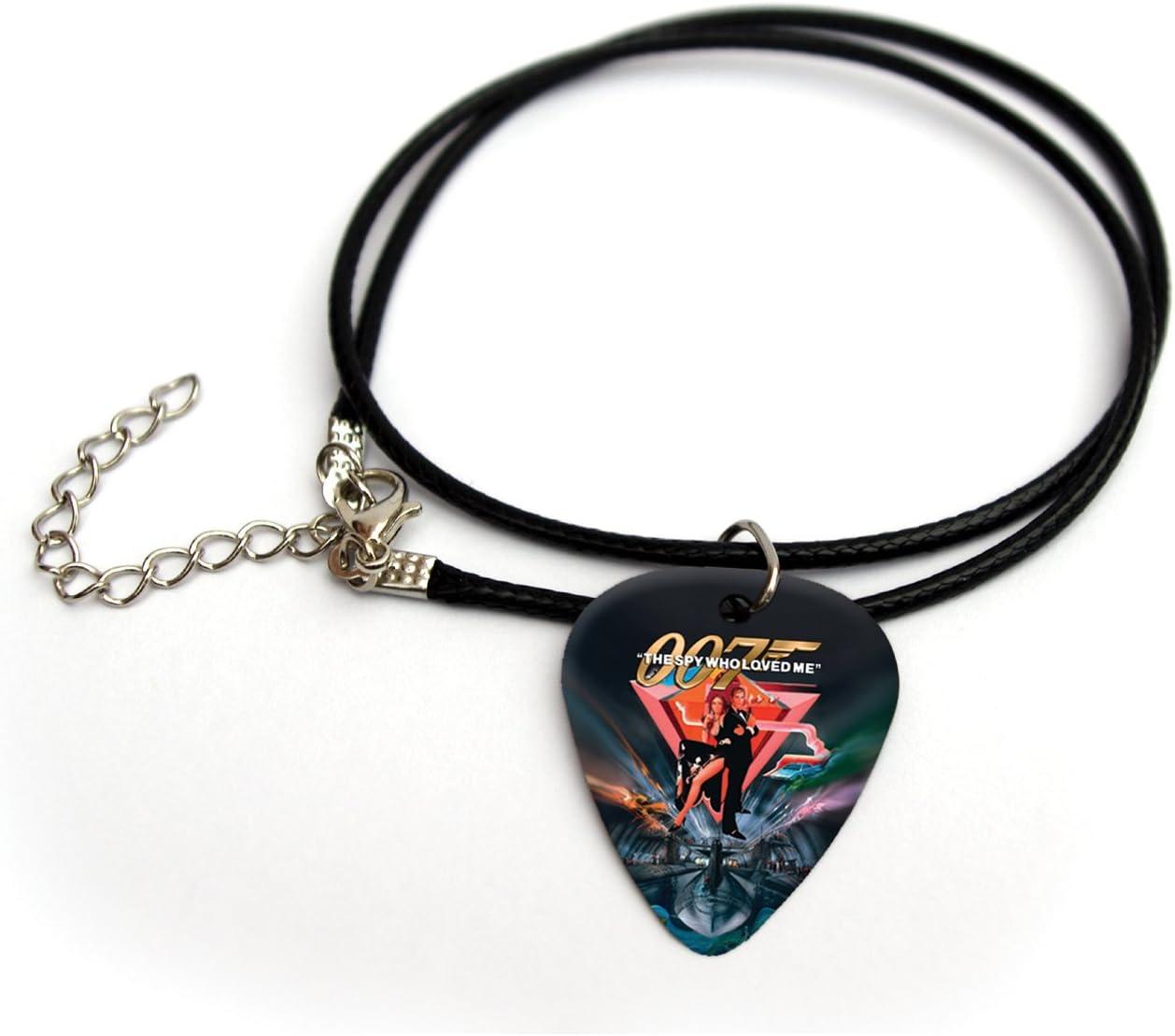 007 Collar de púa de guitarra impresa con el texto en inglés