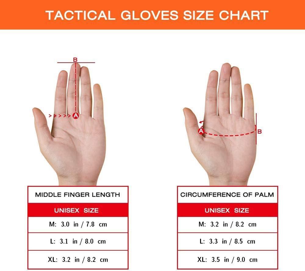 Guanti Touch Screen Full Finger per Combattimento Moto da Sella Allenamento Outdoor Caccia Paintball Airsoft YuamMei 1 Paio Guanti Tattici Militari Escursionismo