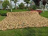 lightweight Camouflage camo net,TechCode 3m x 4m Camo netting x for Army Shooting Camping Military Hunting Hide Woodlands jungle, White, Desert, Camo Tape (3M4M-Camouflage Net)