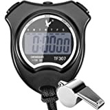 Digital Sport Stopwatch with Stainless Steel Whistle by Paxcoo