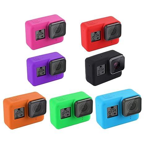 7 Pack Funda para GoPro Hero 5 - Carcasa de Silicona para ...
