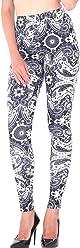 66dbf5b24a4ba CinGr8 Women Winter Retro Tribal Print Leggings Stretchy Thick Yoga Pants  Plus Size