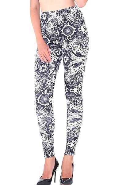 4f1d1426e24733 Amazon.com: CinGr8 Women Winter Retro Tribal Print Leggings Stretchy Thick Yoga  Pants Plus Size: Clothing
