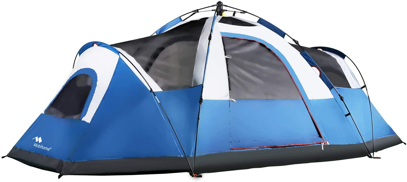 Instant Extended Pop Up Dome Tents Outdoor Mobihome 6 Person Tent Family Camping Quick Setup with Water-Resistant Rainfly and Mesh Roofs /& Door /& Windows 13.5 x 7