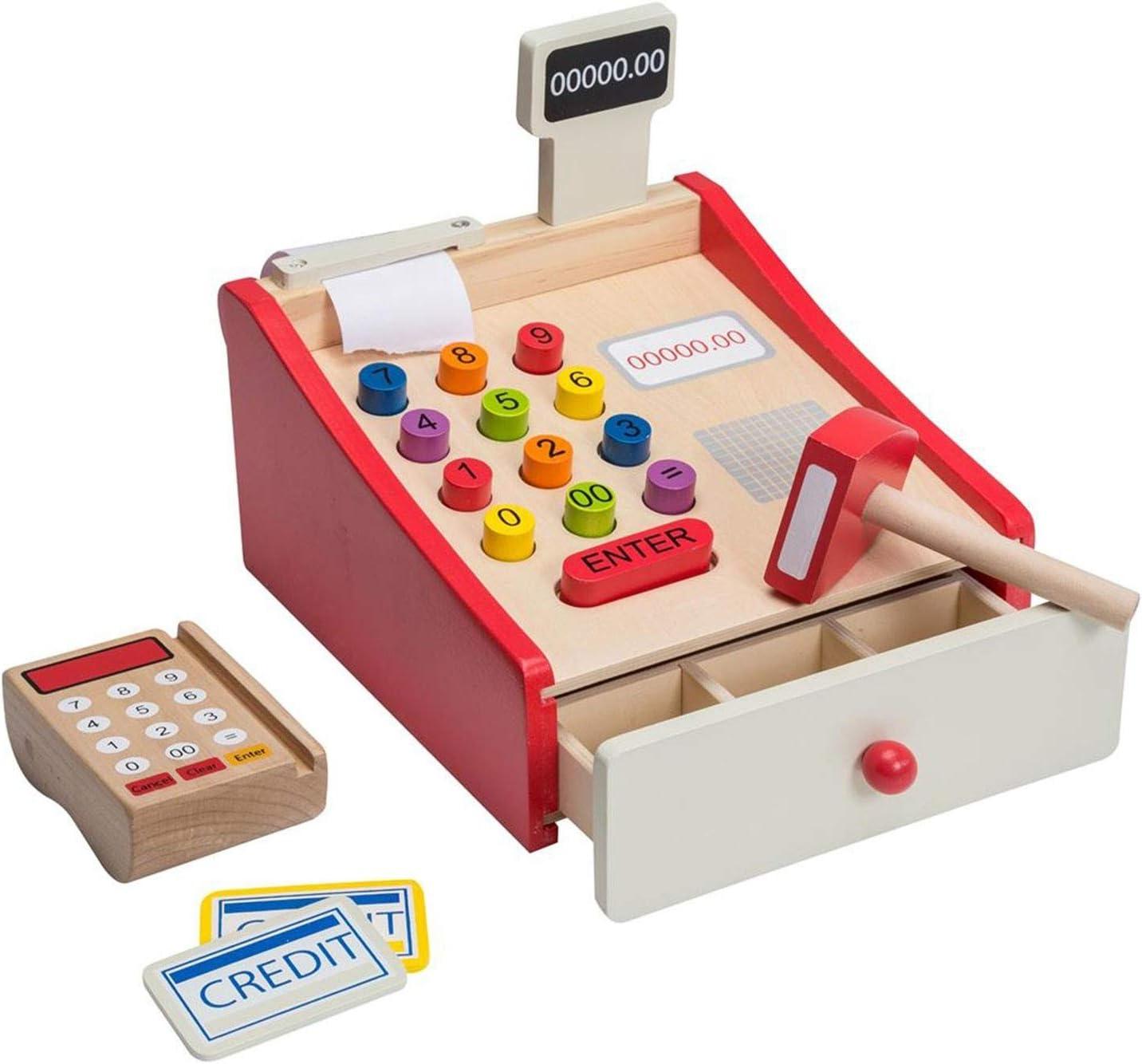 Jouéco – Caja registradora de Madera con Scanner, 80038: Amazon.es: Juguetes y juegos