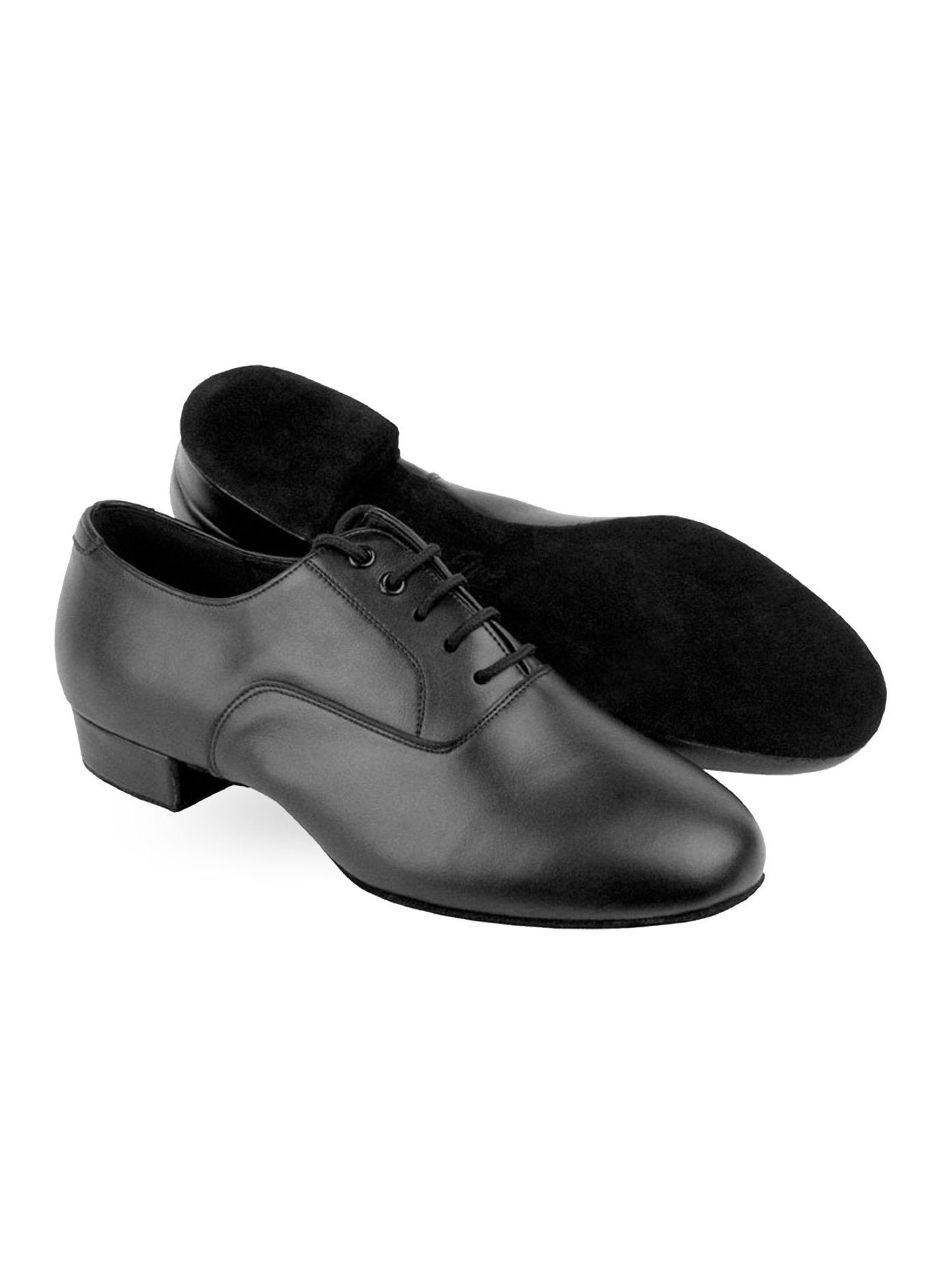 Mens Standard-C Series Wide Width Ballroom Shoes,C919101WBL10095,Black Leather,9.5