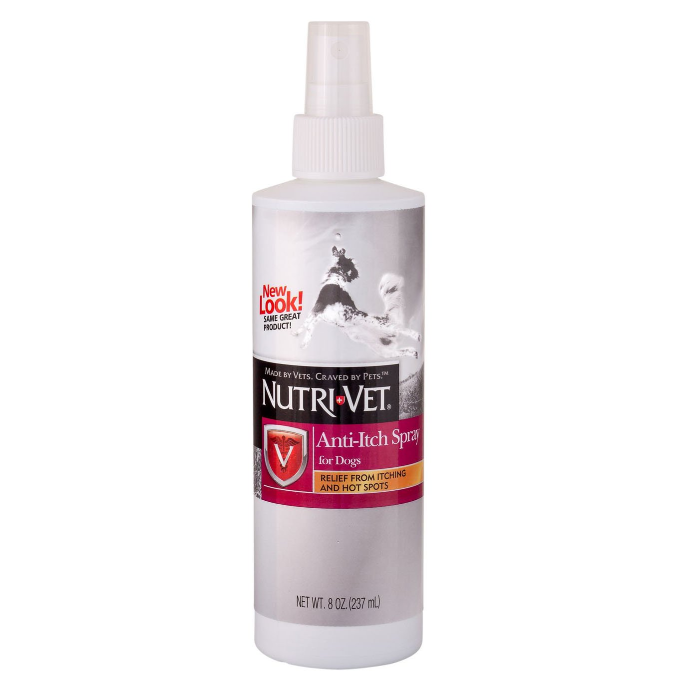 Dog Anti Itch Spray Made in USA Relief from Itching and Hot Spots 8 Oz Nutri Vet