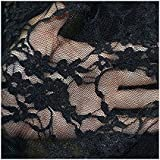 "FLORAL STRETCH LACE FABRIC 54""/56"" WIDE BY THE YARD - BLACK"