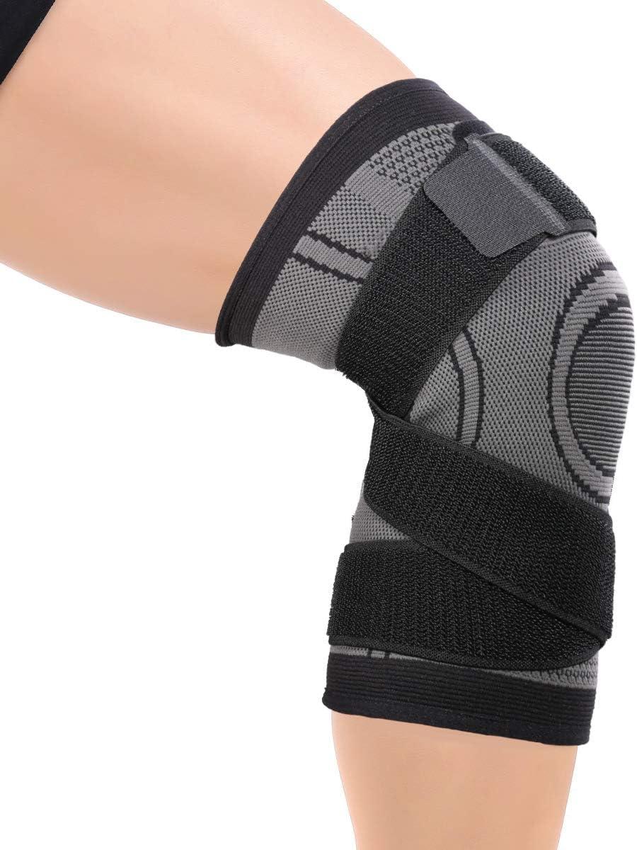 Sallypan Unterst/ützung von Knee,3D Weaving Knie-Brace Breathable Sleeve Support f/ür Laufen von Sportverletzungen Rehabilitation