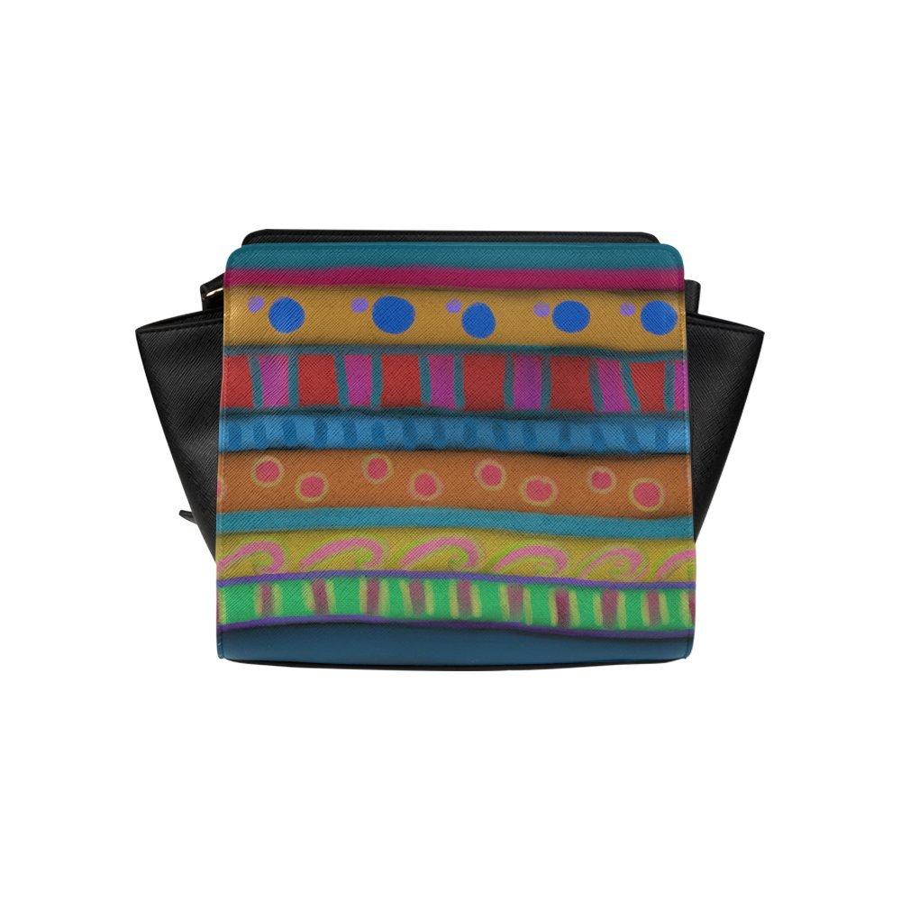 Custom Colorful Abstract Art Shoulder Bag Handbag Purse High-grade PU leather Woman Top Zip Satchel Handbag/Shoulder Bag/Tote Bag For Women Girls SP-379
