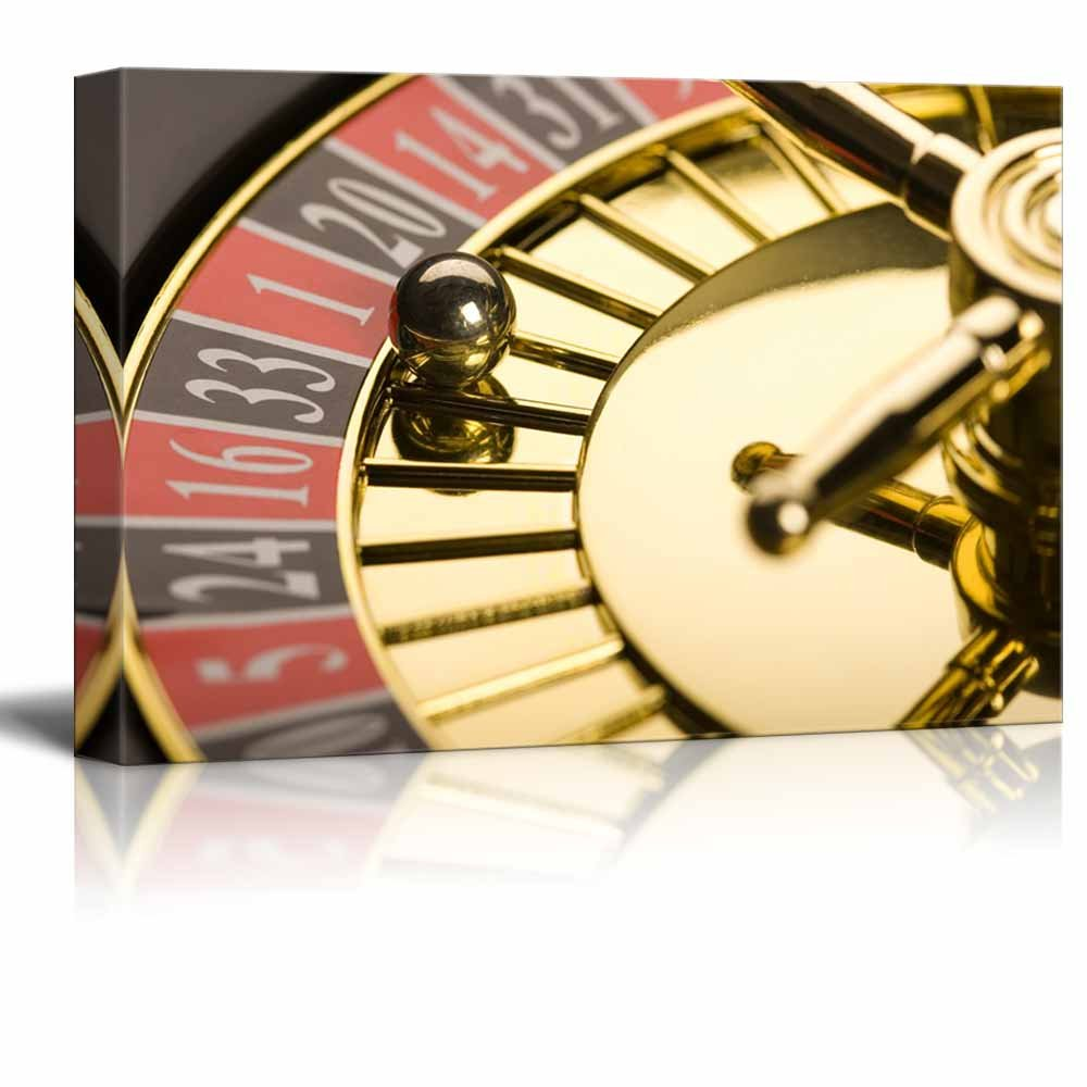 Casino Concept Close Up of Roulette Wall Decor ation - Canvas Art ...