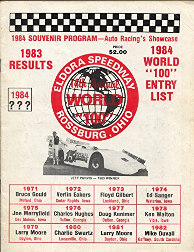 Eldora Speedway World 100 Race Program-1984-wedge style late models-VG (Eldora Speedway Late Model)