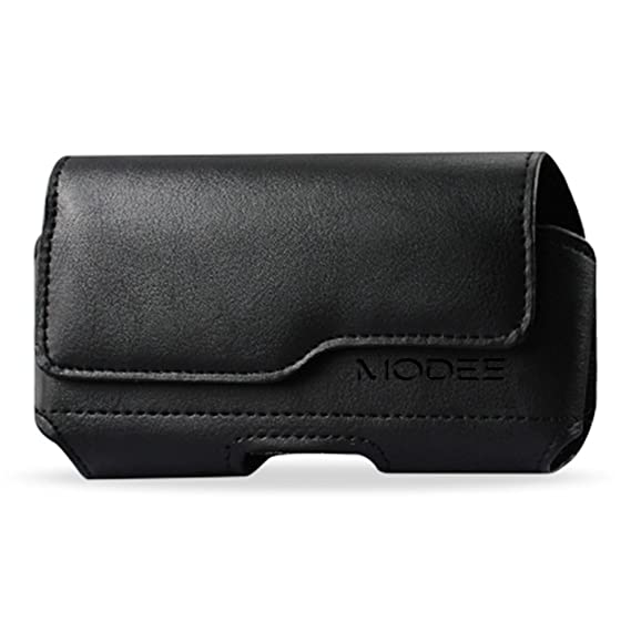 cheap for discount 44147 efe43 iPhone X Holster, iPhone 10 Pouch, Modes Wireless Premium Leather Pouch  Carrying Case with Belt Clip Belt Loops Holster for Apple iPhone X (Fits  with ...