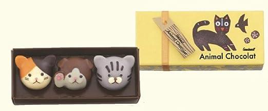 ゴンチャロフ アニマルショコラ キャッツ 3個入り 猫 アニマル チョコレート バレンタイン バレンタインデー ホワイトデー チョコ ショコラ