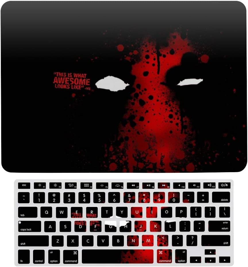 MacBook Air 13 Inch Case(A1369 & A1466, Older Version 2010 2017 Release), Plastic Hard Protective Laptop Case Shell with Keyboard Cover, Deadpool