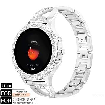 YOOSIDE para Fossil Q Venture Reloj Banda, 18 mm de liberación ...