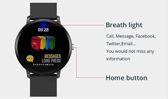CCYX Reloj Inteligente Ip67 Impermeable Actividad de Vidrio ...