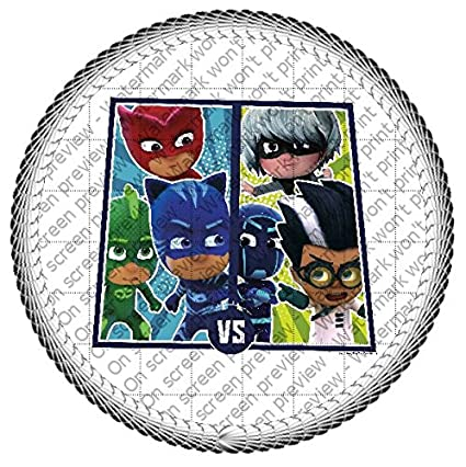 "PJ Masks Superhero vs Villains Edible Cake Topper or Cupcake Topper Decorations (2"" Cupcake"