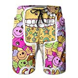 Cartoon Ice Cream Popular Mans Sweatpants 8.82oz Dirt Resistant