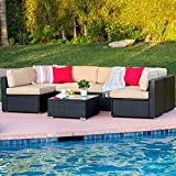 Best Choice Products 7-Piece Outdoor Patio Rattan Wicker Sectional Conversation Sofa Set w/Table, 6 Sofa Chairs, No Assembly Required