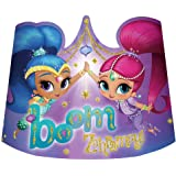 Shimmer and Shine Paper Tiaras 8 count Birthday Party Supplies Hats