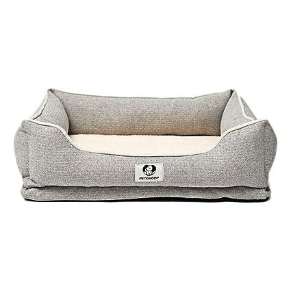 Colchon Ortopedico para Perros Cama Lavable Cesta Rectangular para Cachorro Tamaño Mediano Grande Y Extra Grande