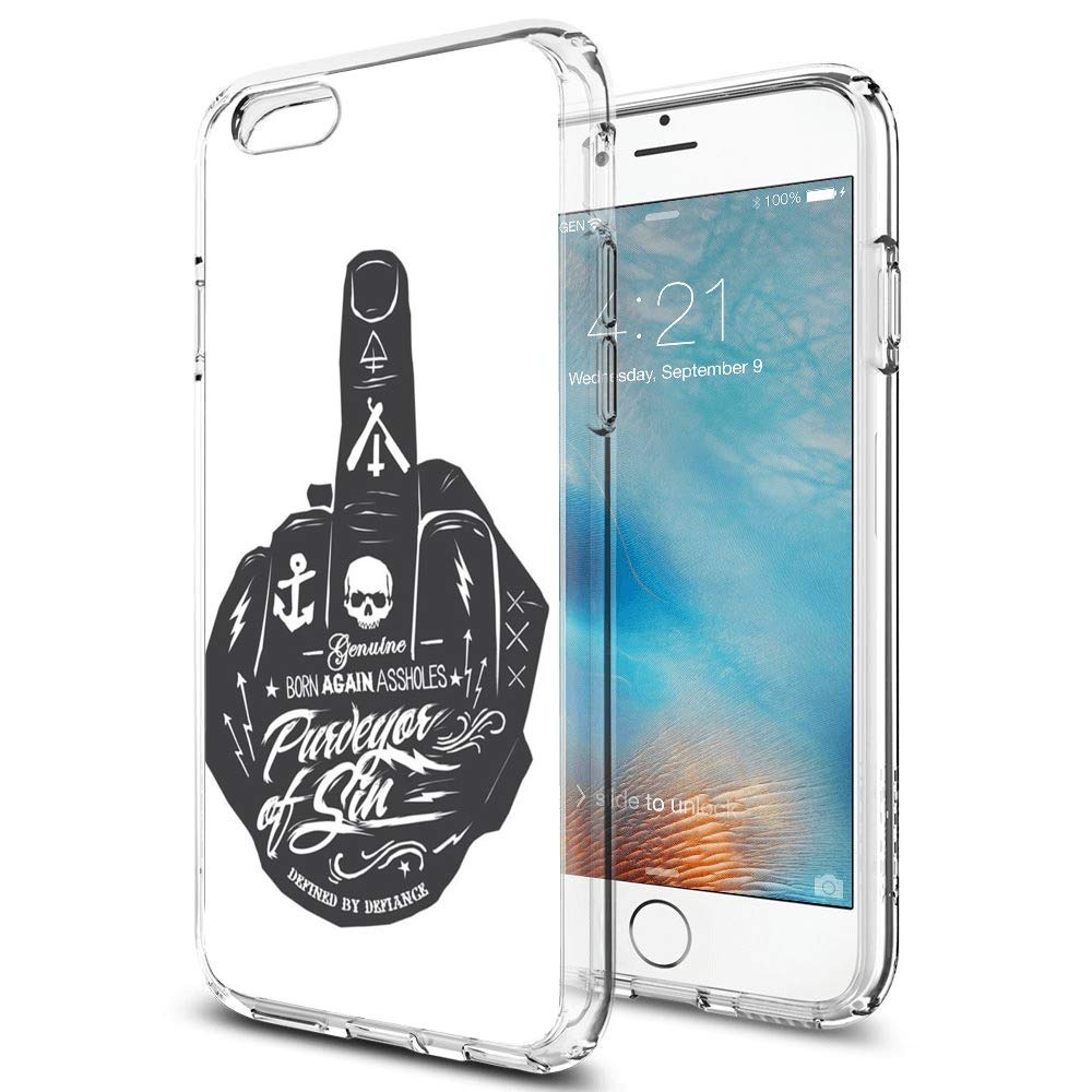 Amazon.com: iPhone 6, iPhone 6S Clear Crystal Phone Case ...