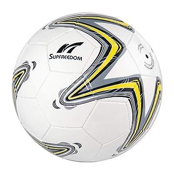 SupFreedom Balón de fútbol para césped, Espuma de PVC de 1,6 mm ...
