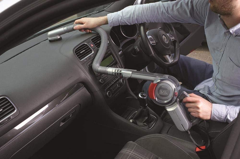 BLACK+DECKER PV1200AV-XJ - Aspirador de coche con cabezal pivotante 12V, 350ml, adaptador para mechero: Amazon.es: Hogar