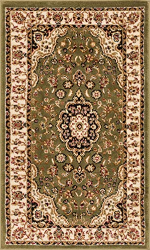 Well Woven Barclay Medallion Kashan Green Traditional Area Rug 2'3