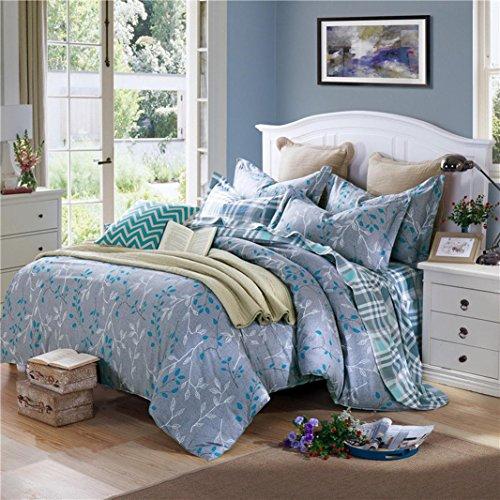 Pure cotton Bedding 4-Piece Set Modern comfort and durability Duvet Cover Bedding Set?Queen by MiZuJ (Image #4)'