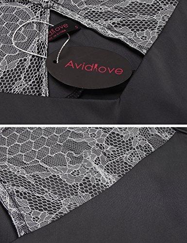 Avidlove - Salto de cama - para mujer negro