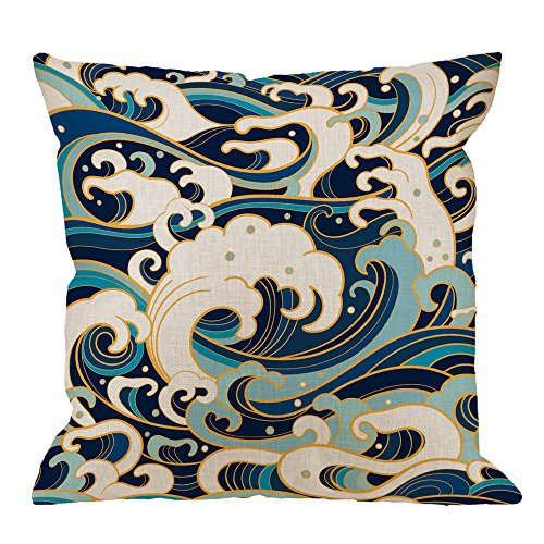 HGOD DESIGNS Japanese Pillow Covers,Decorative Throw Pillow Traditional