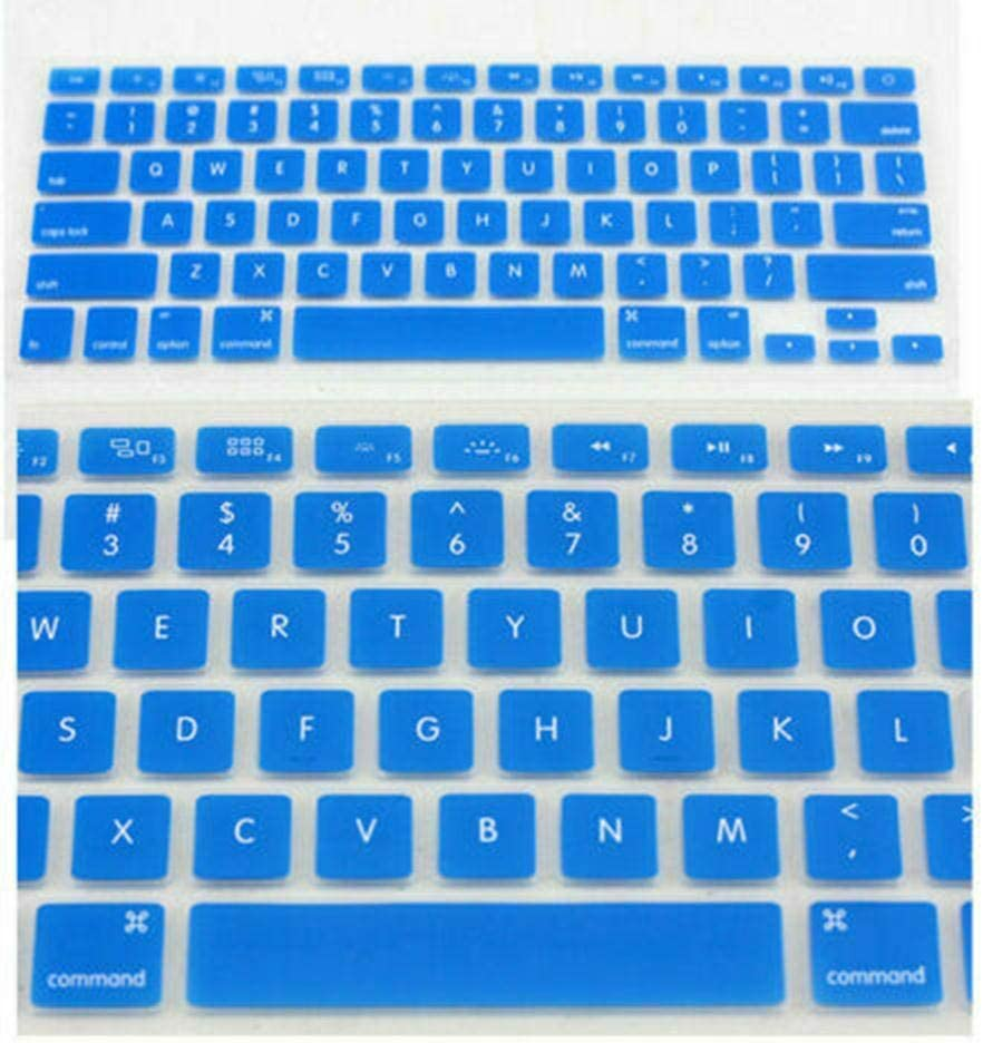 Boon Earthie Light Blue Silicone Keyboard Cover for Apple MacBook Pro Air 13 15 17 2015 and Older Version Protect dust Small Particles Pieces Brittle Cookies Bread Crumb Clean Tidy Neat