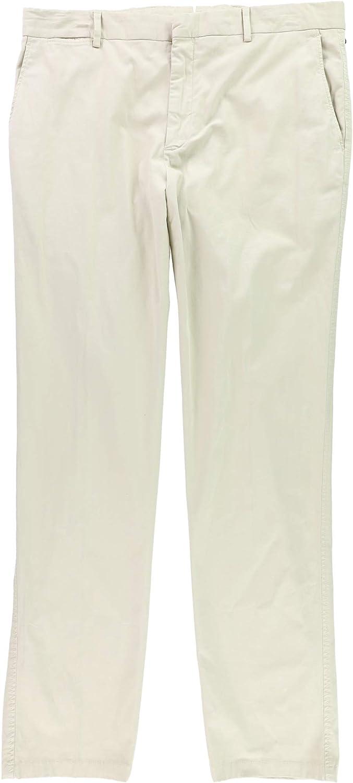 Mens Stretch Chino Polo Trousers Pants 36 x 33, Khaki