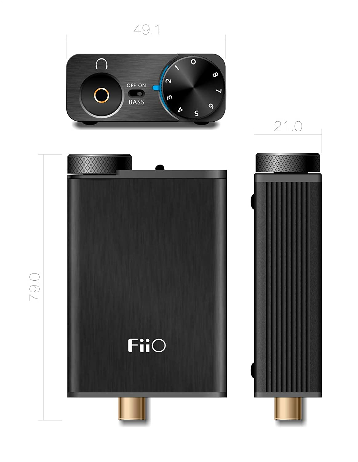 FiiO E10K USB DAC and Headphone Amplifier (Black)
