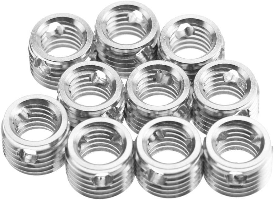 10Pcs Self Tapping Thread Inserts 307 Type Stainless Steel Thread Repair Inserts Nuts Combination Kit Set Replacement for Wood Furniture #3