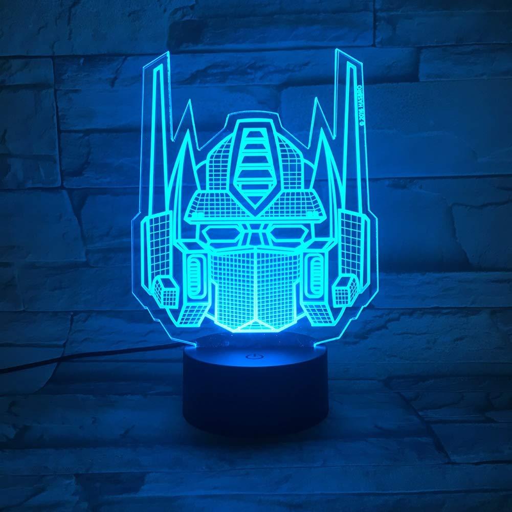 Sjsf Lámpara L Noche Led Transformers De Atmósfera 3d Luces n8Pkw0ONX
